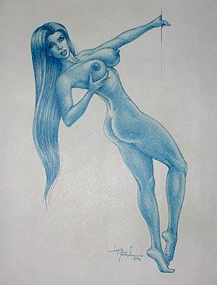 Melena Azul