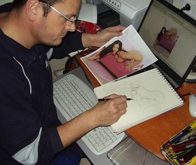 Carlos García, desde Murcia otro ilustrador erótico